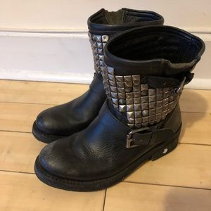 ASH Titan Studded Leather Boots
